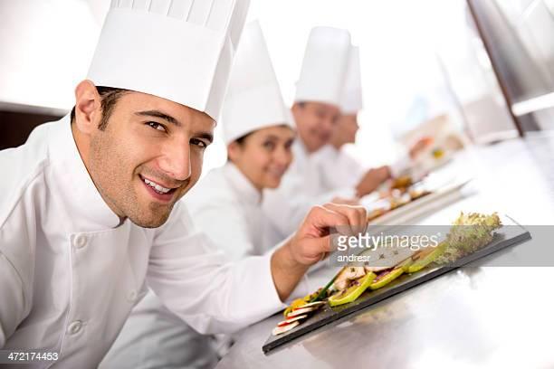 Köche in einem Kochkurs