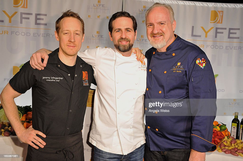 Chefs Jeremy Bringardner, Tal Ronnen and Art Smith attend ...