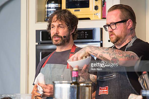 Chefs Ken Oringer and Jamie Bissonnette host 'Paella Double Trouble' during the fourth annual Austin FOOD WINE Festival at Auditorium Shores on April...