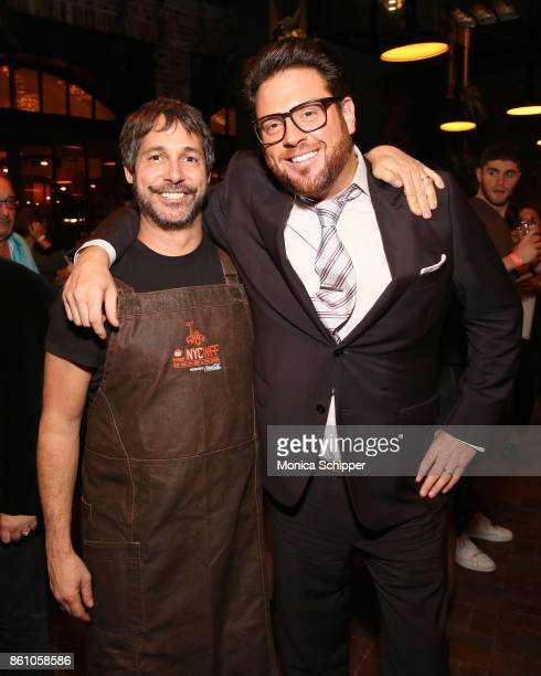 Chefs Ken Oringer and Scott Conant attend Aperitivo hosted by Scott Conant at The Standard High Line on October 13 2017 in New York City