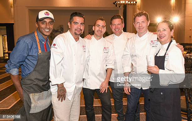 Chefs Marcus Samuelsson Aaron Sanchez Marc Forgione Tyler Florence Bobby Flay and Nancy Silverton attend a Tribute Dinner Honoring Jonathan Waxman...