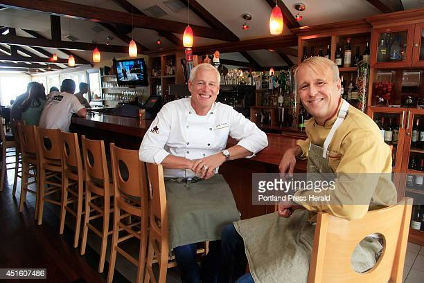 Chefs Mark Gaier left and Clark Frasier James Beard Award winning chefs who operated the famous restaurant Arrows in Ogunquit now own MC Perkins Cove...