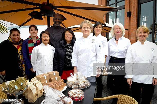Chefs Mary Morgan Jenn Knight David Lawerance Terri Wu Bernice Tzong Patti Dellamonica Bauler Angela Gong Sherri Wood and Emily Luchetti attend the...