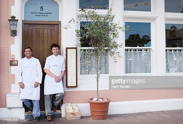 Chefs Mitch Tonks and Matt Prowse are photographed for the Observer on September 17 2012 in Brixham England