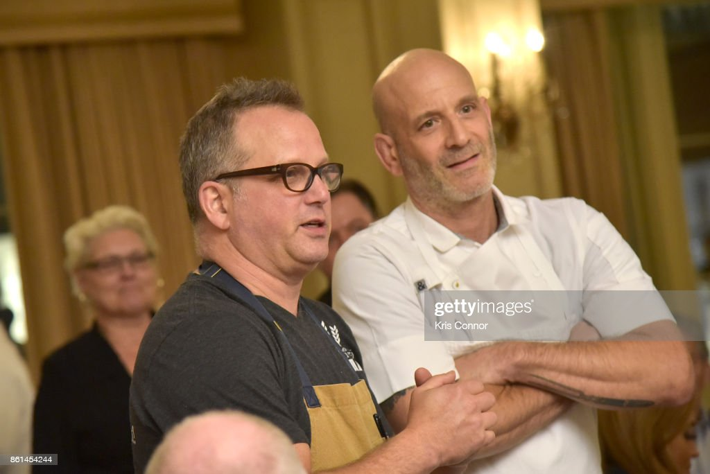 Food Network & Cooking Channel New York City Wine & Food Festival Presented By Coca-Cola - Dinner with Paul Kahan and Marc Vetri part of the Bank of America Dinner Series presented by The Wall Street Journal : News Photo