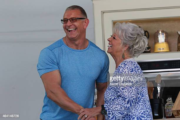 Chefs Robert Irvine and Paula Deen attend the KitchenAid Culinary Demonstrations during the 2015 Food Network Cooking Channel South Beach Wine Food...