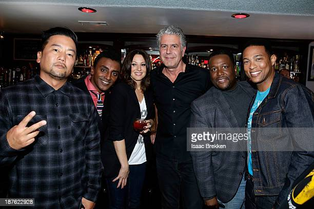 Chefs Roy Choi Marcus Samuelsson Comedian Bonnie McFarlane TV personality Anthony Bourdain actor Wendell Pierce and CNN anchor Don Lemon attend...