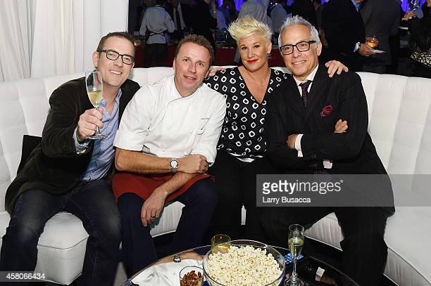 Chefs Ted Allen Marc Murphy Anne Burrell and Geoffrey Zakarian attend City Harvest's 20th annual Bid Against Hunger on October 29 2014 in New York...
