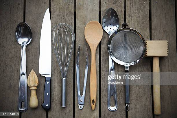 chefs tools - cooking utensil stock photos and pictures