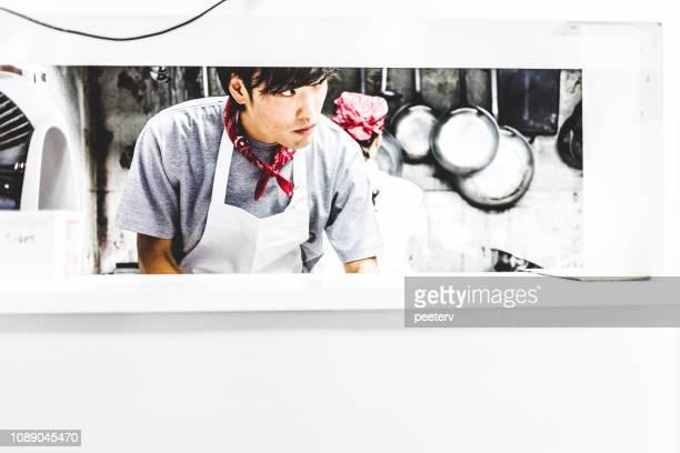 Chefs working in the kitchen