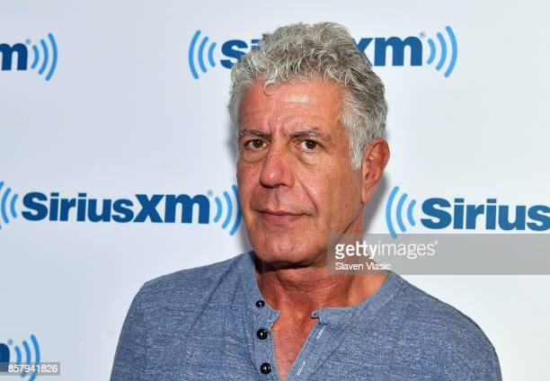 Chef/TV personality Anthony Bourdain visits SiriusXM Studios on October 5 2017 in New York City