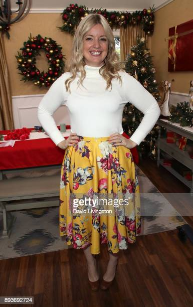 Chef/TV personality Damaris Phillips visits Hallmark's 'Home Family' at Universal Studios Hollywood on December 15 2017 in Universal City California