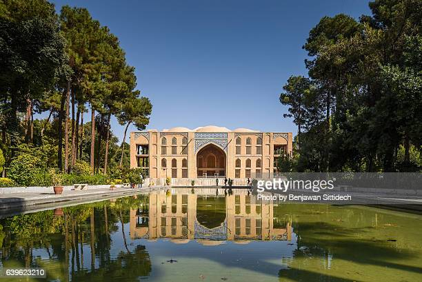 chehel sotoun palace in isfahan, iran - persian culture stock photos and pictures