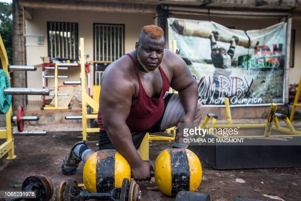 Cheick Ahmed AlHassan Sanou aka Iron Biby works out at his home of BoboDioulasso second biggest city of Burkina Faso on September 24 2018 'Iron...