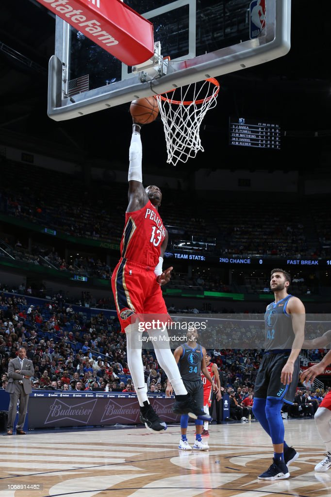 Cheick Diallo of the New Orleans Pelicans dunks the ball
