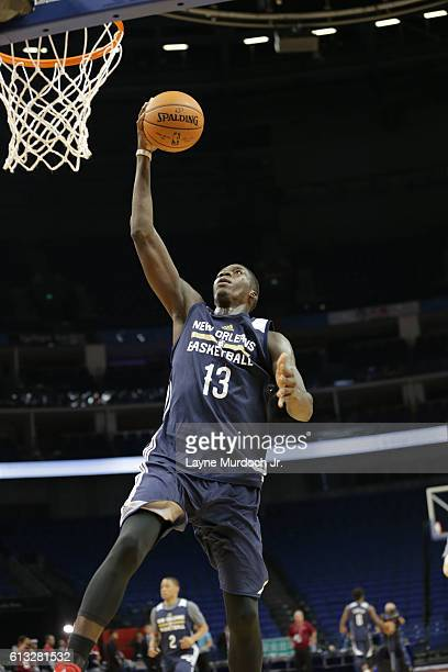 Cheick Diallo of the New Orleans Pelicans during practice as part of the 2016 Global Games China at Mercedes Benz Arena on October 8 2016 in Shanghai...