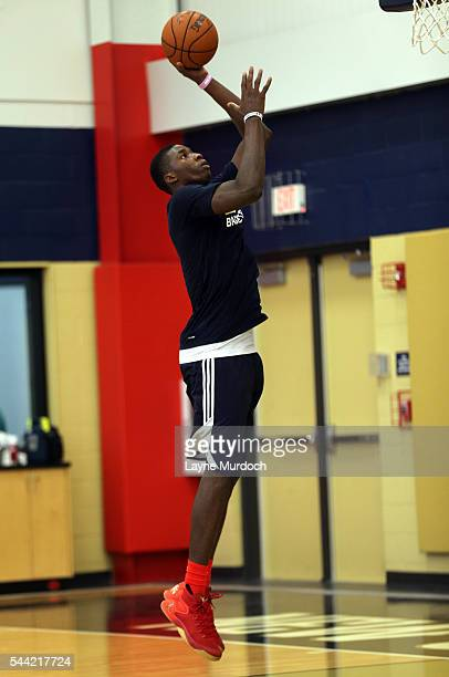 Cheick Diallo of the New Orleans Pelicans practices on June 30 2016 at the New Orleans Practice Facility in New Orleans Louisiana NOTE TO USER User...