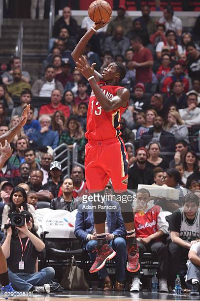 Cheick Diallo of the New Orleans Pelicans shoots the ball against the LA Clippers on December 10 2016 at STAPLES Center in Los Angeles California...