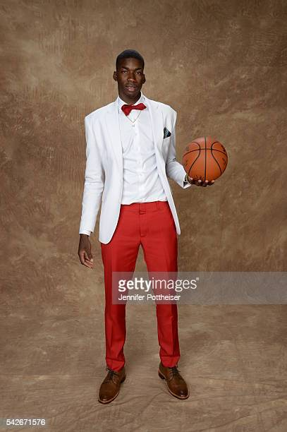 Cheick Diallo poses for a portrait after being drafted number thirty three overall to the Los Angeles Clippers during the 2016 NBA Draft on June 23...