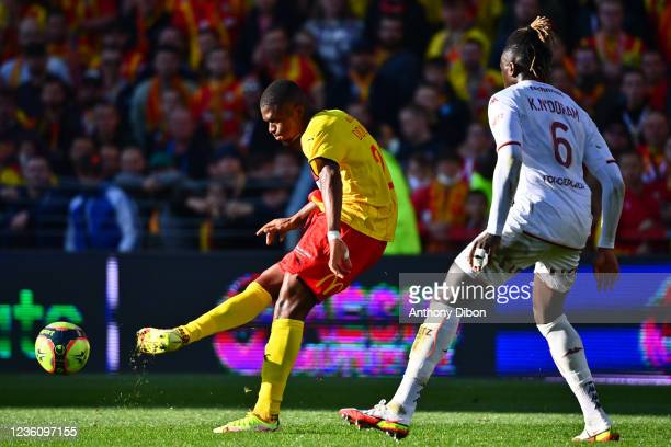 Cheick DOUCOURE of Rc Lens during the Ligue 1 Uber Eats match between Lens and Metz at Stade Bollaert-Delelis on October 24, 2021 in Lens, France.