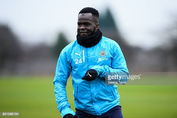 Cheick Tiote during Newcastle United Training Session at The Newcastle United Training Centre on January 6 2017 in Newcastle upon Tyne England