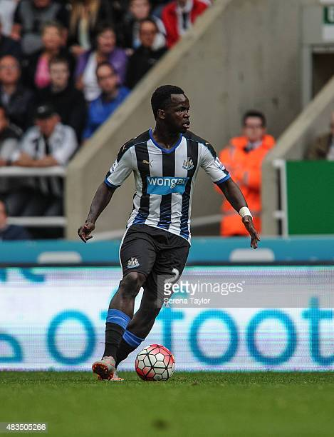 Cheick Tiote of Newcastle controls the ball during the Barclays Premier League match between Newcastle United and Southampton at StJames Park on...