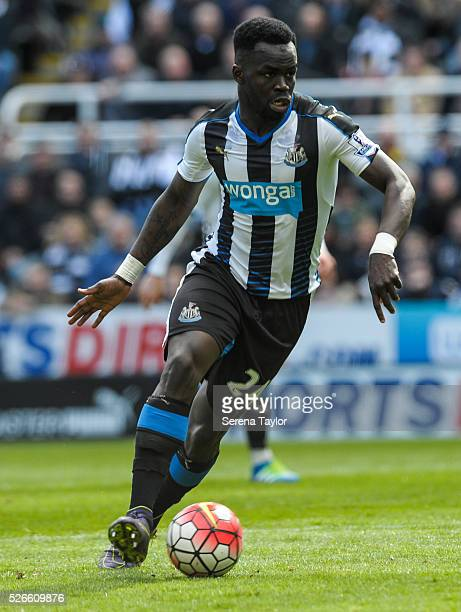 Cheick Tiote of Newcastle controls the ball during the Barclays Premier League match between Newcastle United and Crystal Palace at StJames' Park on...
