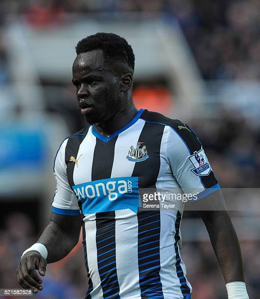 Cheick Tiote of Newcastle during the Barclays Premier League match between Newcastle United and Swansea City at StJames' Park on April 16 in...