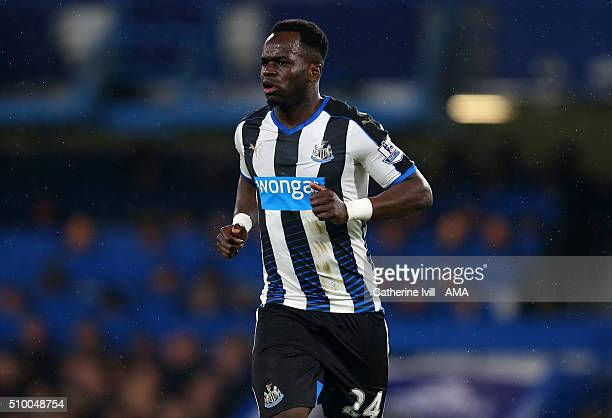 Cheick Tiote of Newcastle United during the Barclays Premier League match between Chelsea and Newcastle United at Stamford Bridge on February 13 2016...
