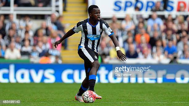 Cheick Tiote of Newcastle United in action during the Barclays Premier League match between Newcastle United and Southampton at St James Park on...