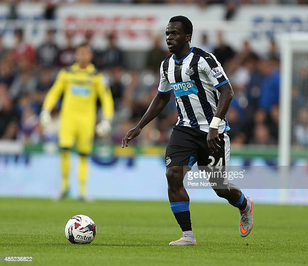 Cheick Tiote of Newcastle United in action during the Capital One Cup Second Round between Newcastle United and Northampton Town at St James' Park on...