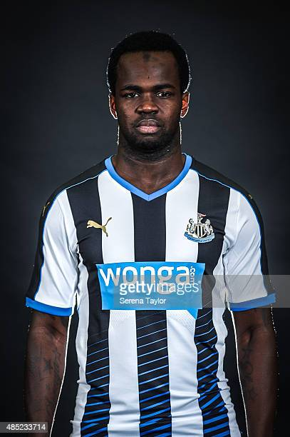 Cheick Tiote poses for his head shot during a Newcastle United Photocall at The Newcastle United Training Centre on July 28 in Newcastle upon Tyne...