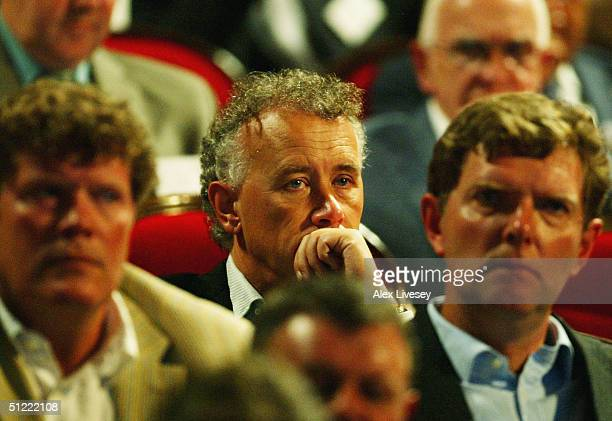 Cheif Executive Rick Parry of Liverpool during the UEFA Champions League Draw for the first stage of the Season 2004/05 at the Grimaldi Forum on...