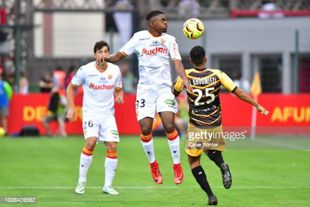 Cheik Doucoure of Lens and Fahd El Khoumisti of Orleans during the Ligue 2 match between Orleans and Lens on July 27 2018 in Orleans France
