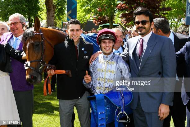 Cheikh Joaan Bin Hamad Al Thani during the Abu Dhabi Poule des Poulains at Deauville on May 14th 2017 in Deauville France