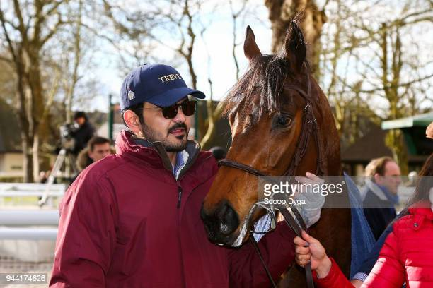 Cheikh Joaan Bin Hamad Al Thani during the Prix of Carentan at Deauville on March 2nd 2018 in Deauville France