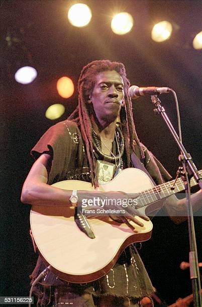 Cheikh Lo, guitar and vocals, performs at the Melkweg on May 30th 1997 in Amsterdam, the Netherlands.