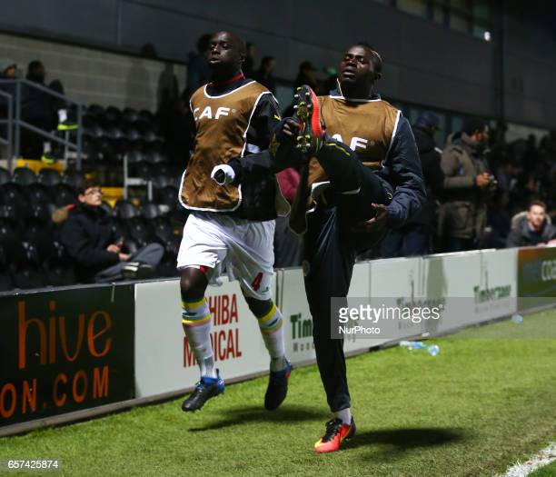 LR Cheikh M'Bengue of Senegal and Sadio Mane of Senegal during the prematch warmup during International Friendly match between Nigeria against...