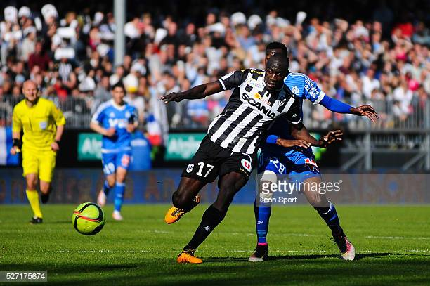 Cheikh Ndoye during the French Ligue 1 match between Angers SCO and Olympique de Marseille on May 1 2016 in Angers France