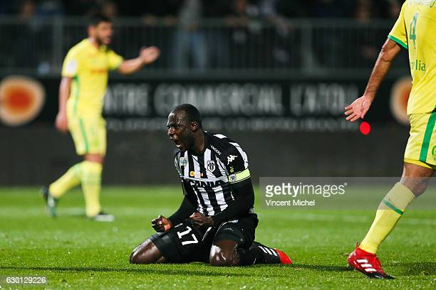 Cheikh Ndoye of Angers during the French Ligue 1 match between Angers and Nantes on December 16 2016 in Angers France