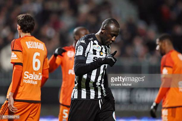 Cheikh Ndoye of Angers during the Ligue 1 match between Angers SCO and FC Lorient on December 3 2016 in Angers France