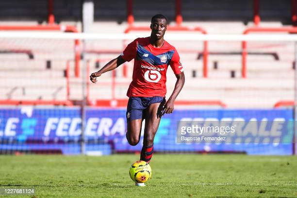 Cheikh NIASSE of Lille during the preseason soccer friendly match between Lille and Mouscron on July 18 2020 in Mouscron Belgium