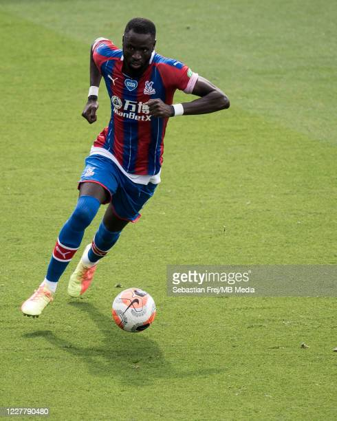Cheikhou Kouyate of Crystal Palace control ball during the Premier League match between Crystal Palace and Tottenham Hotspur at Selhurst Park on July...