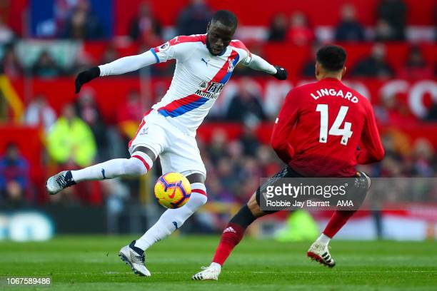 Cheikhou Kouyate of Crystal Palace during the Premier League match between Manchester United and Crystal Palace at Old Trafford on November 24 2018...