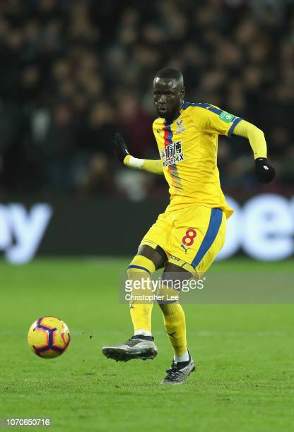 Cheikhou Kouyate of Crystal Palace during the Premier League match between West Ham United and Crystal Palace at London Stadium on December 8 2018 in...