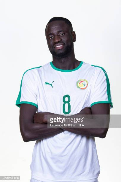 Cheikhou Kouyate of Senegal poses for a portrait during the official FIFA World Cup 2018 portrait session at the Team Hotel on June 13, 2018 in...