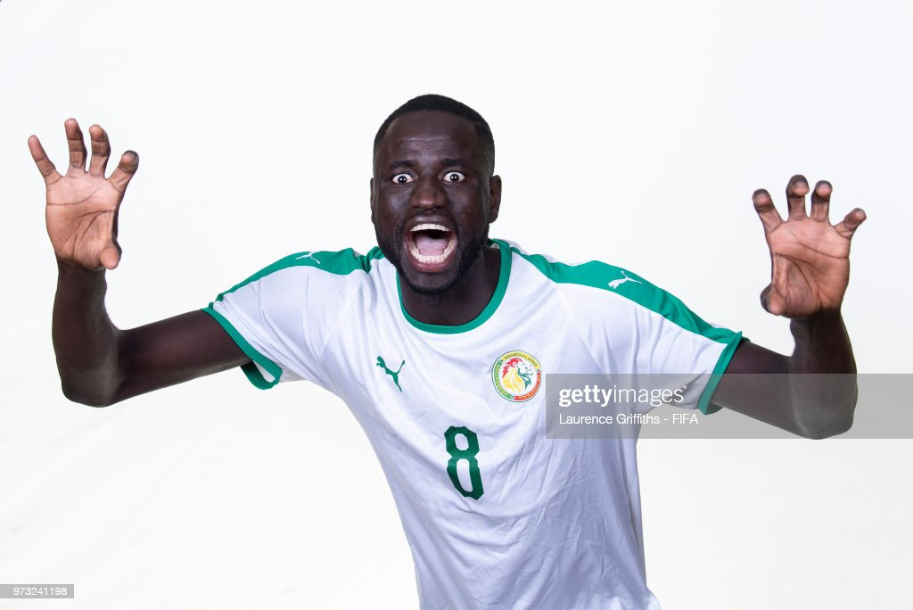 Cheikhou Kouyate of Senegal poses for a portrait during the official FIFA World Cup 2018 portrait session at the Team Hotel on June 13, 2018 in Kaluga, Russia.
