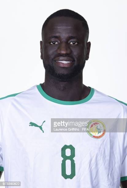 Cheikhou Kouyate of Senegal poses for a portrait during the official FIFA World Cup 2018 portrait session at the Team Hotel on June 13 2018 in Kaluga...