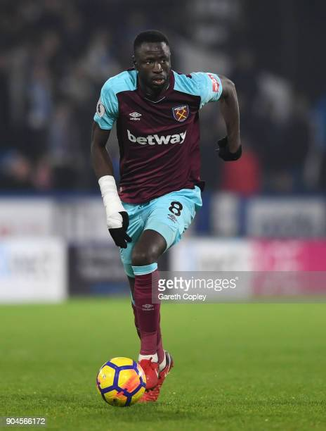 Cheikhou Kouyate of West Ham during the Premier League match between Huddersfield Town and West Ham United at John Smith's Stadium on January 13 2018...