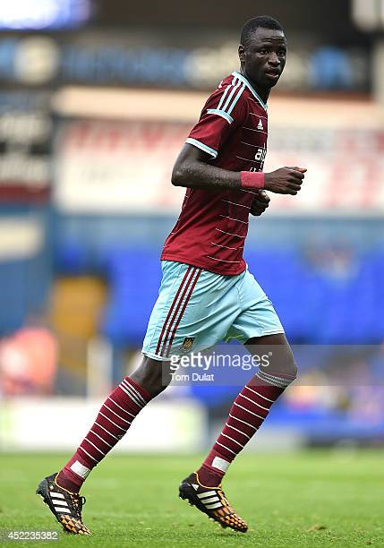 Cheikhou Kouyate of West Ham United in action during the preseason friendly match between Ipswich Town and West Ham United at Portman Road on July 16...